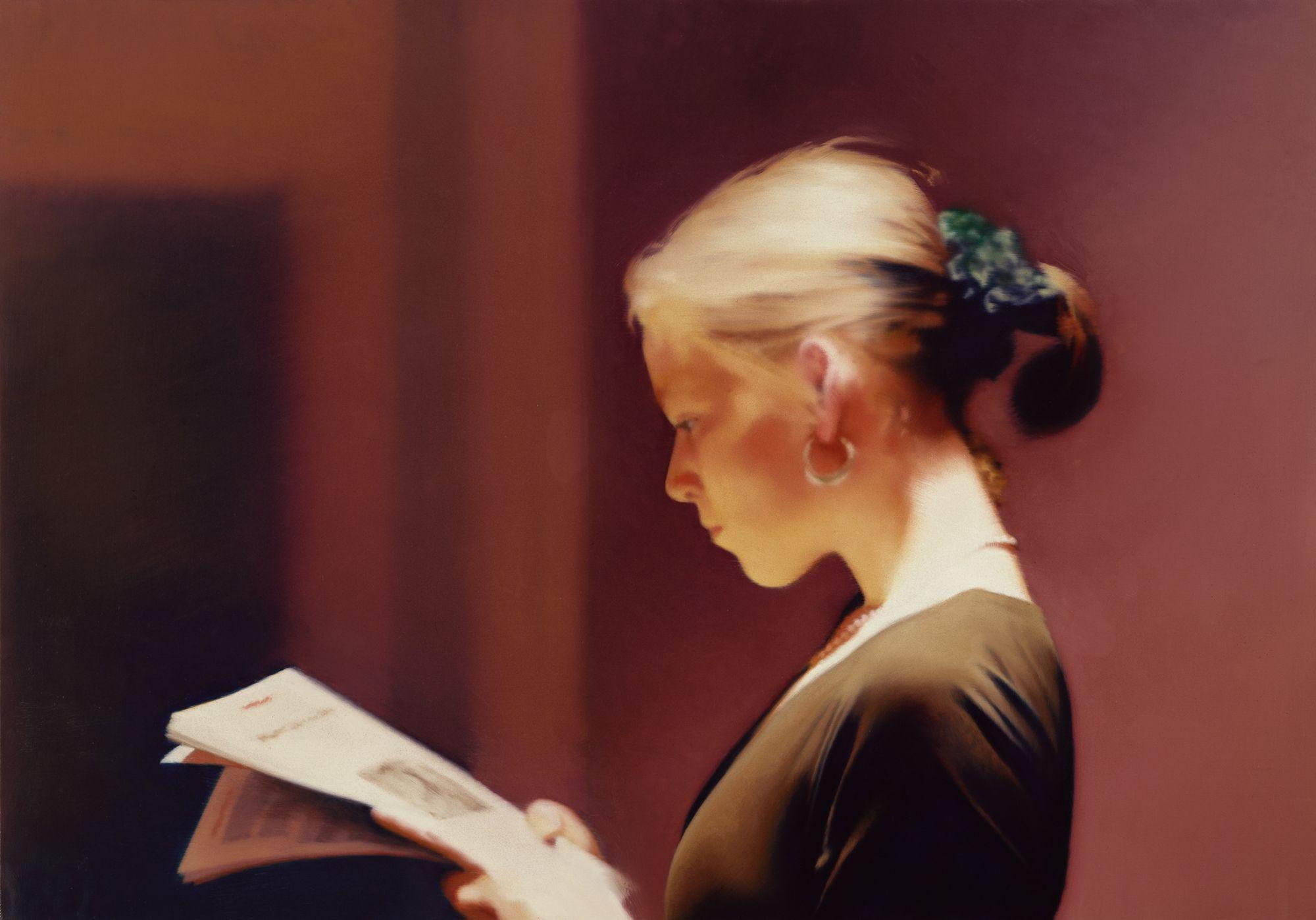 gerhard richter, lesende, photographie, hyperrealism, detail, glacis, wermeer