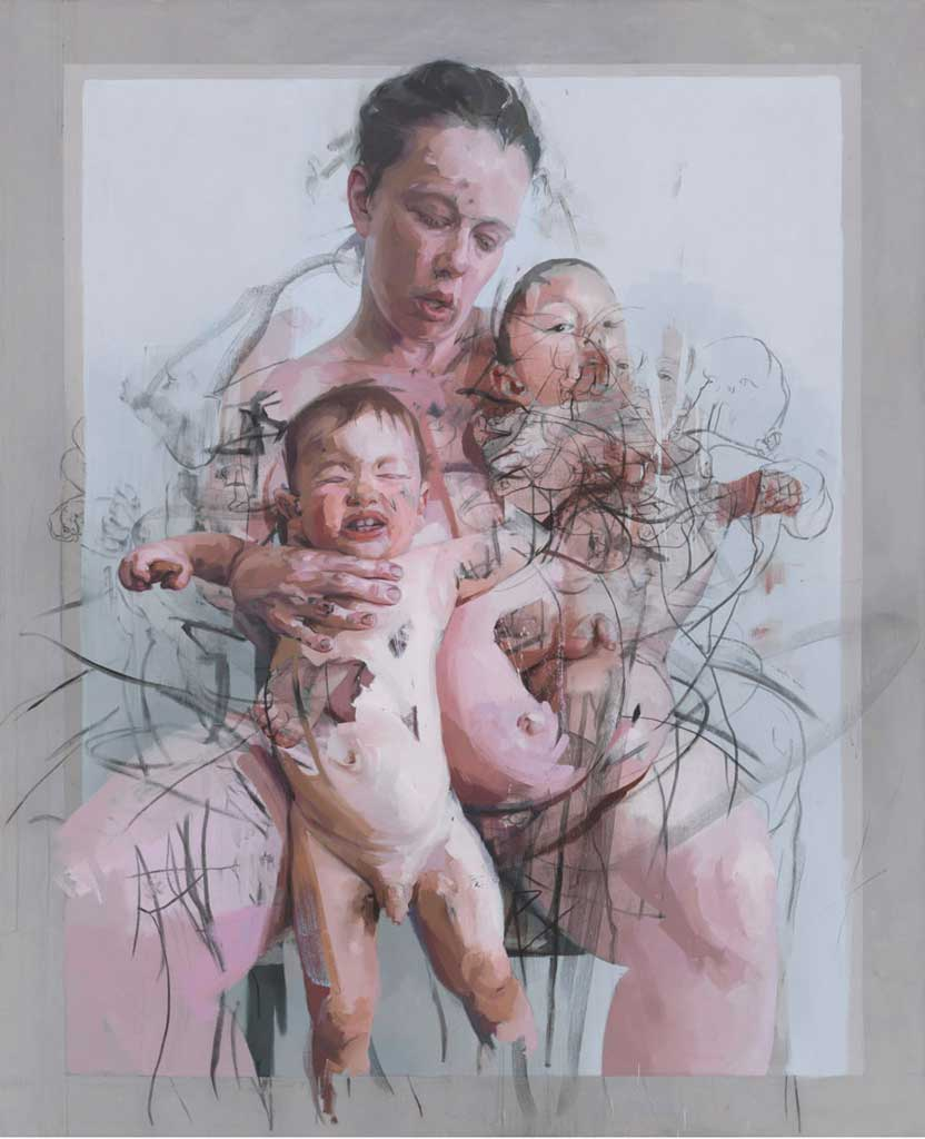 jenny-saville, painting, nude, female, feminism, portrait, nude, young-english-artist