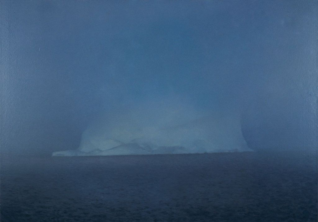 gerhard richter,eisberg,iceberg,painting,hyperrealism,romantism,sotheby's,london,2017,auction,mist,iceberg