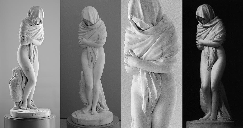 jean antoine houdon, sculpture, art, houdon, la frileuse, hiver, musée Fabre, Montpellier