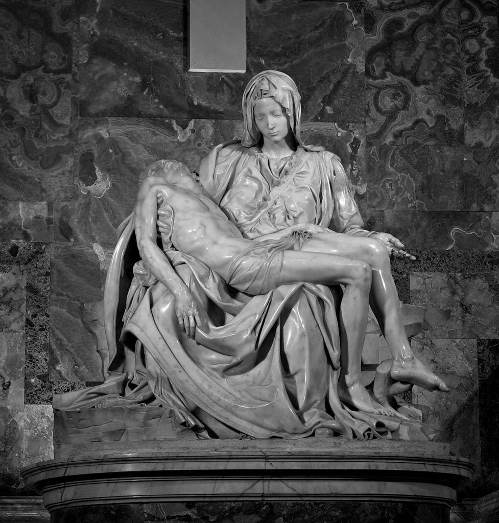 michel ange, pieta, sculpture, baroque, christ