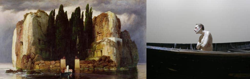 ron mueck, arnold bocklin, ile des morts, sculpture, hyperralism