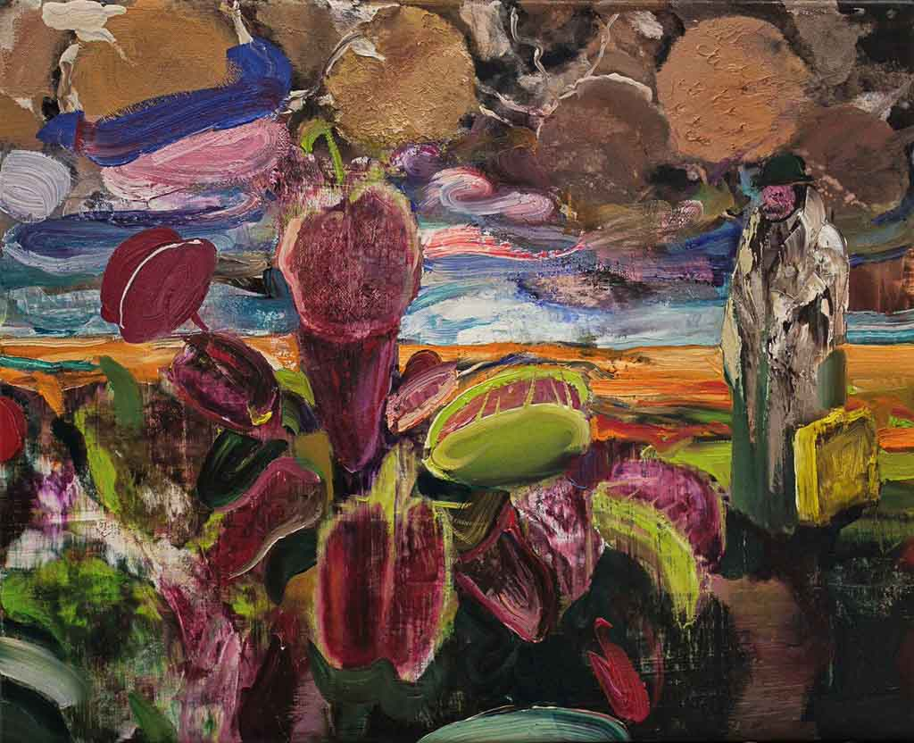 adrian-ghenie,painting,2018,jungles-in-paris