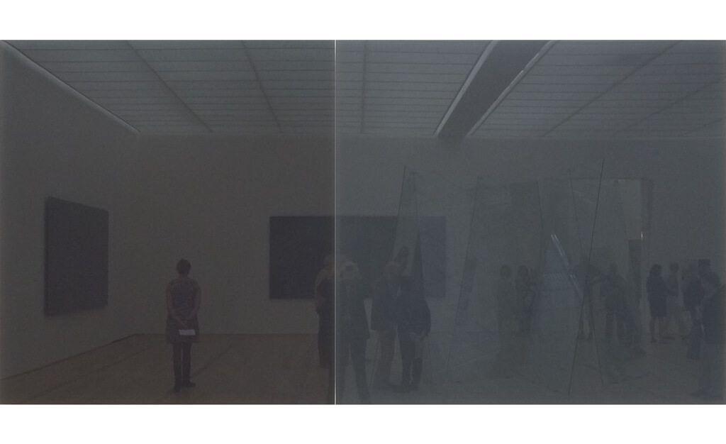 gerhard richter,Doppelgrau,painting,hyperrealism,art-gallery,marian-goodman,2014,abstraction