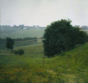 gerhard richter,wiesental,painting,hyperrealism,romantism,1985,landscape