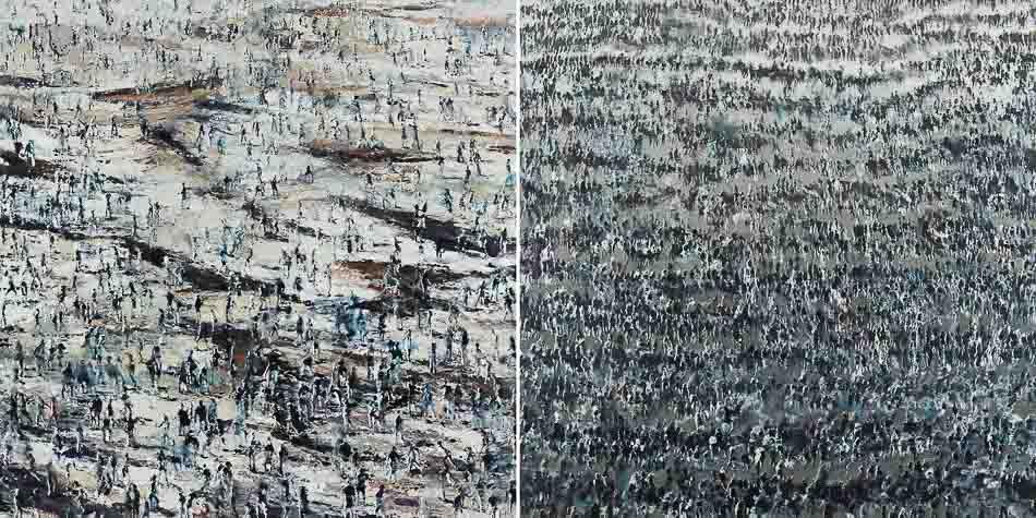 philippe cognée, galerie daniel templon, paris, 2017, crowds