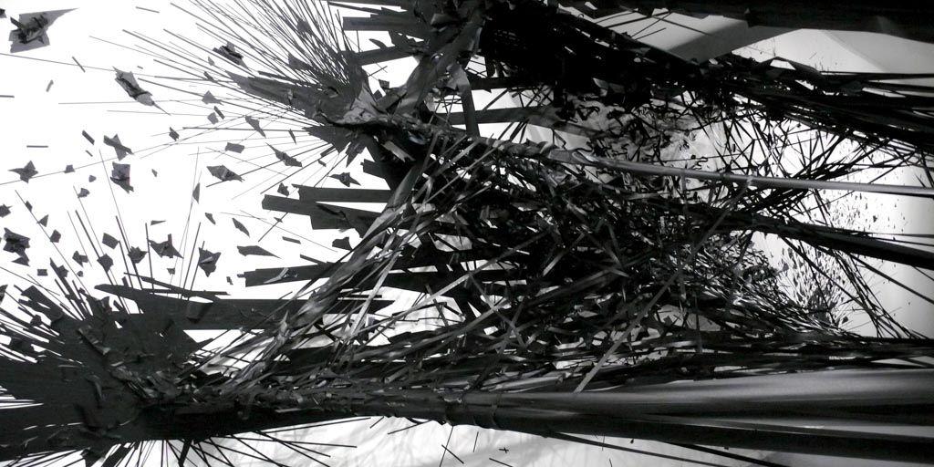 Monika Grzymala, Raumzeichnung, Solitär, art, art contemporain, installation, exposition, sculpture
