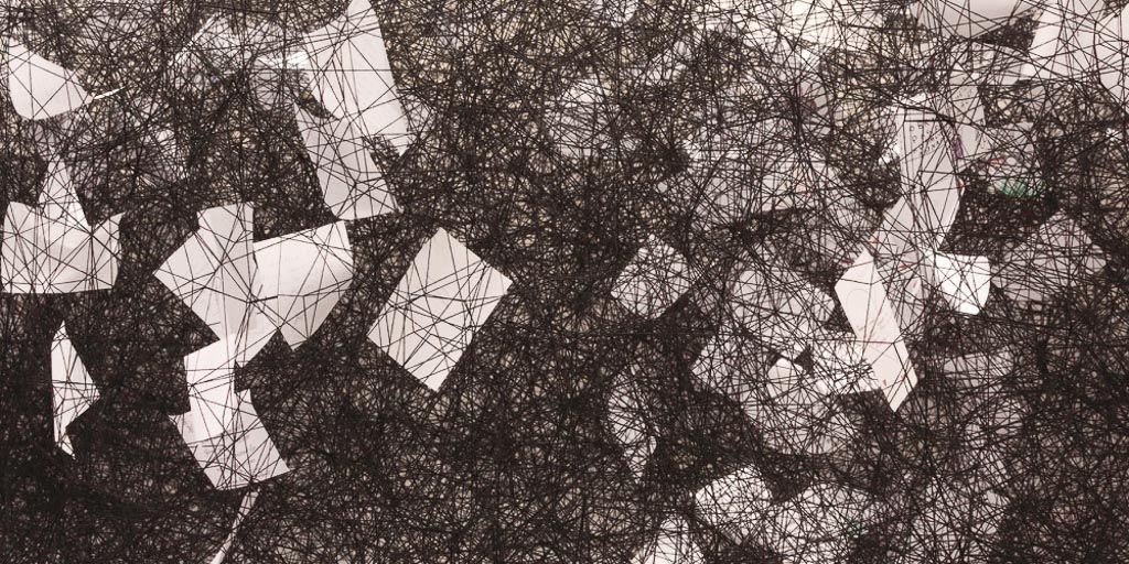 chiharu shiota, contemporary art, installation, galerie art, art, daniel templon, japon, artiste, plasticien, performance, memory, shiota, paper, letter, bound