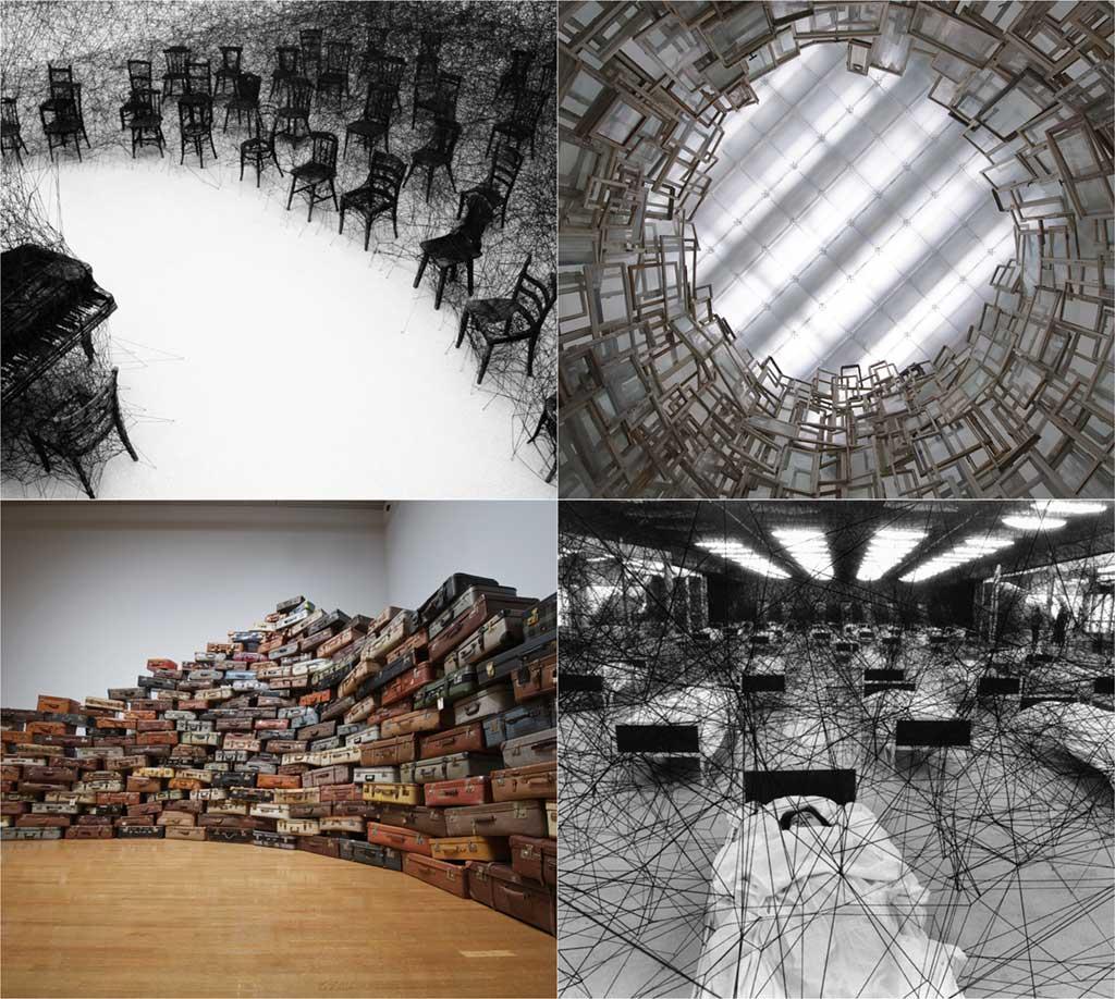 chiharu shiota, contemporary art, installation, galerie art, art, daniel templon, japon, artiste, plasticien, performance, memory, shiota