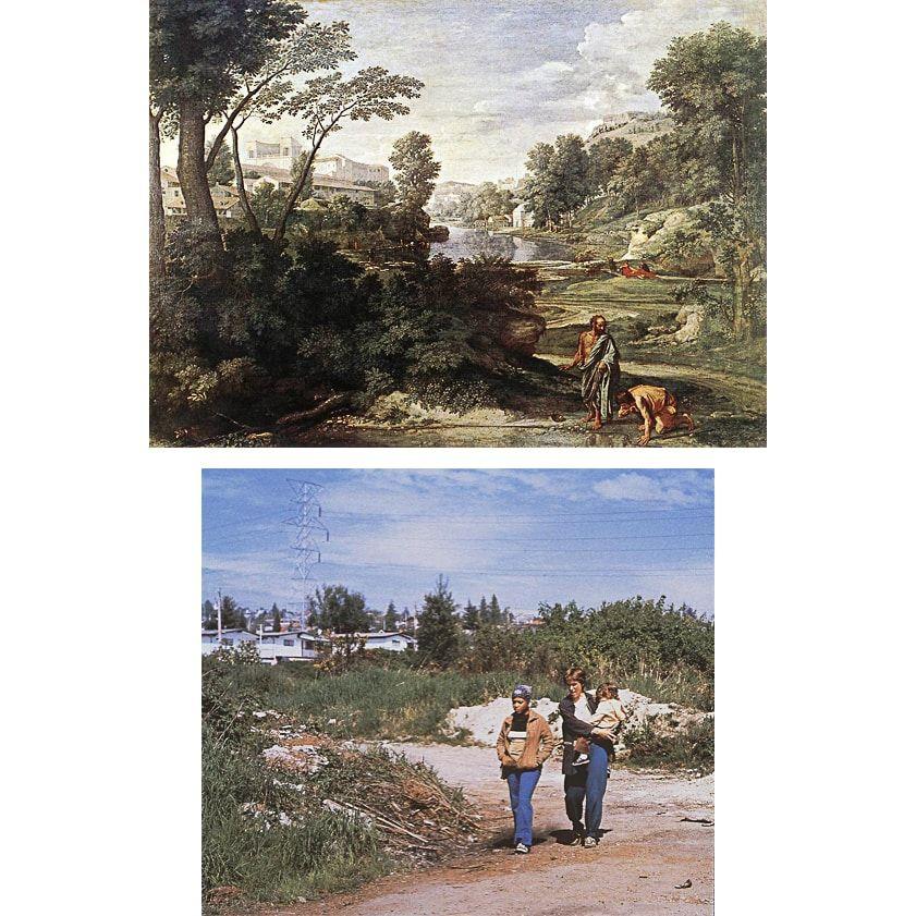 nicolas poussin, paysage avec Diogenes, jeffe wall, diatribe, photography