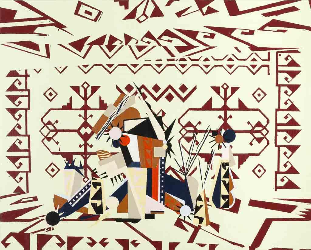 farah-atassi_painting_modernism_ornamental